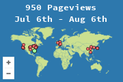 Locations of visitors to this page (since Dec 2009)