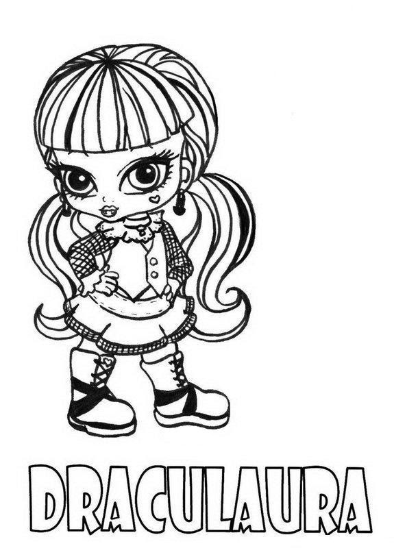 Monster High Draculaura Coloring Pages At Getcoloringscom Free