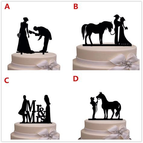 Free Shipping Western Style Bride & Groom Silhouette