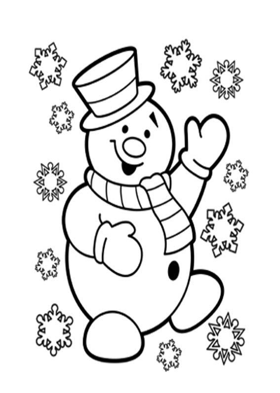 Dibujos Para Colorear Navidad Muñeco De Nieve