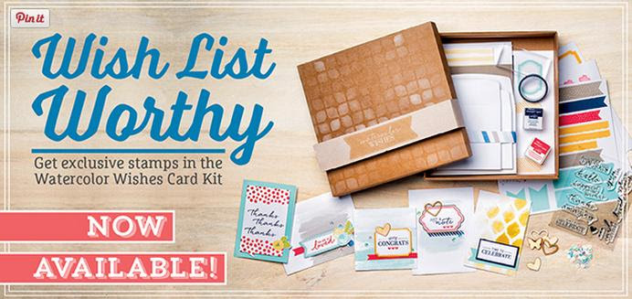 watercolour wishes kit from Stampin' Up!