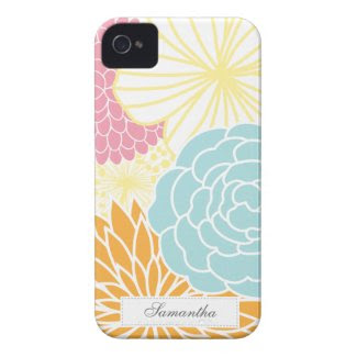 Colorful Mod Florals iPhone 4 Case
