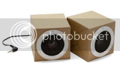 Muji Cardboard MP3 Player Speakers 2