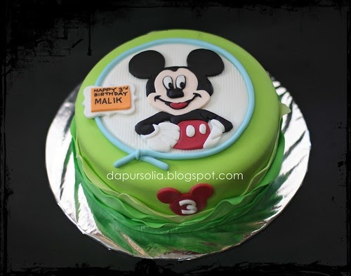 Dapur Solia Lemon Cake With Mickey Mouse Decoration