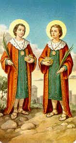 Cosme y  Damián, Santos