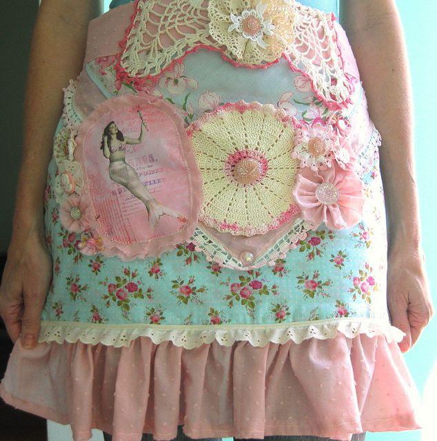 shabby apron