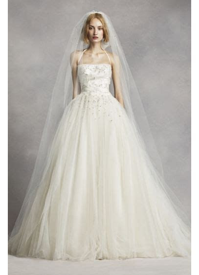 Pearl and Crystal Embellished Cathedral Veil   David's Bridal