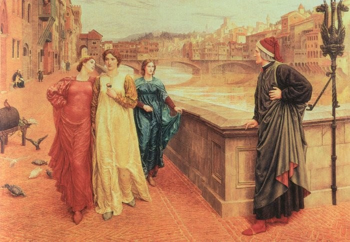 dante meets beatrice by henry holiday
