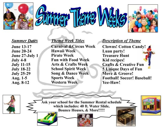 Summer Dance Camp Theme Ideas Find Your Dream