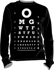 eye test funny T-shirt i saw on the web thought i make one for myself