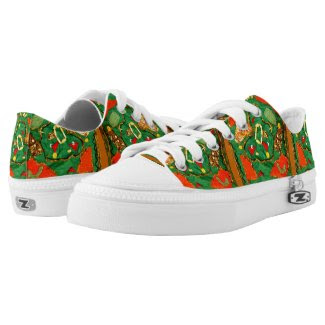Retro Hippie-Style Design on Shoes/Sneakers Printed Shoes