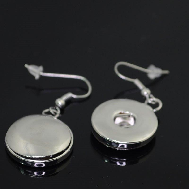 75190030-00 Klik Snap Findings -  Earring w Shepherd Hook - Silvertone (1)