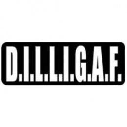 DILLIGAF Helmet Sticker