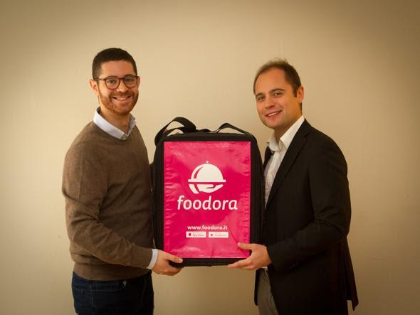 Da sinistra Matteo Lentini e Gianluca Cocco, i due country manager di Foodora Italia