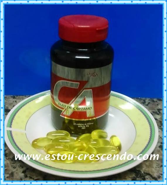 cápsulas de óleo de cártamo