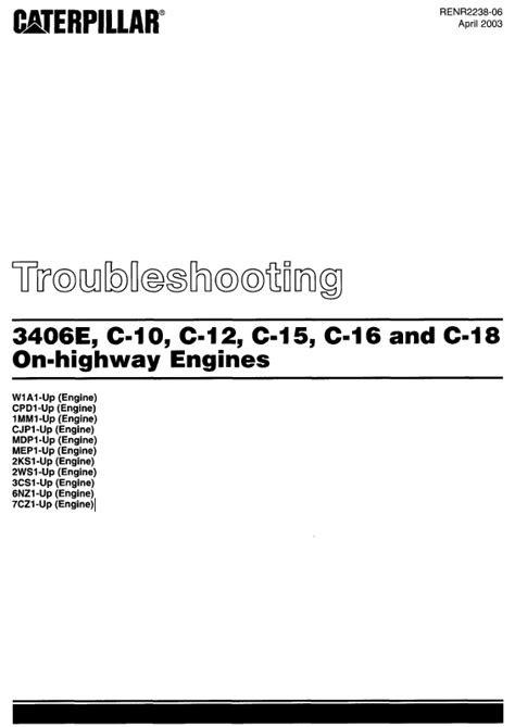 caterpillar 3406E C-10 C-12 C-15 C-16 C-18 Engines PDF