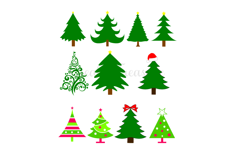 Download Free Christmas Tree SVG DXF. Cutting files for Silhouette ...