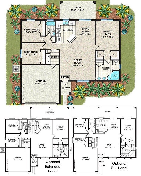 Elegant House  Plans  With 3  Bedrooms  2  Baths  New Home
