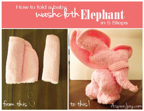Washcloth Elephant