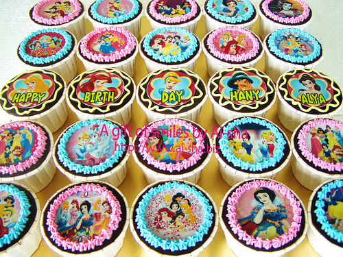 Birthday Cupcakes Edible Image Disney Princess