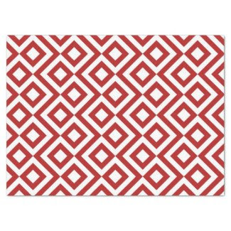 "Red and White Meander Tissue Paper 17"" X 23"" Tissue Paper"