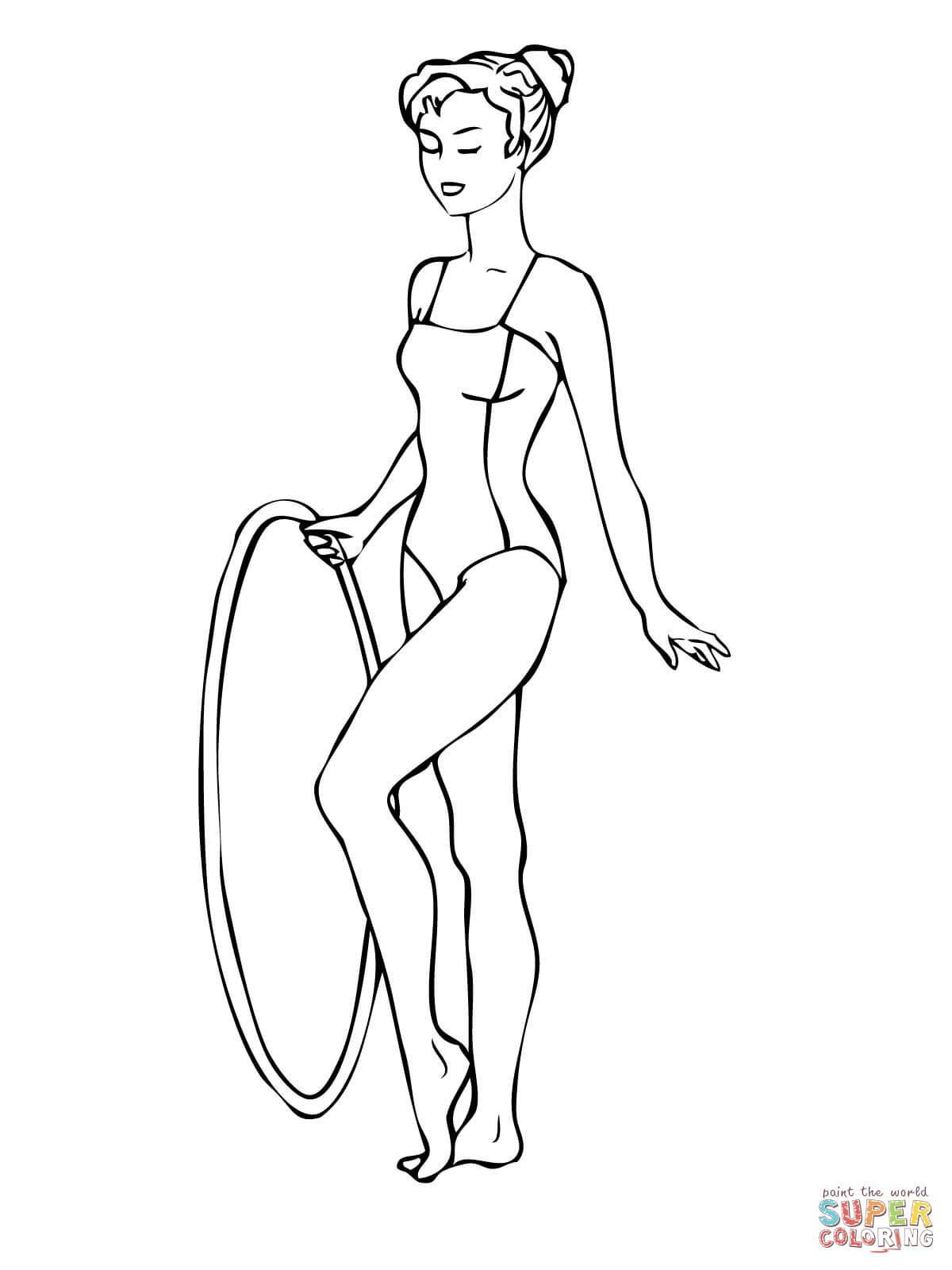 Programme de gymnastique avec cerceau