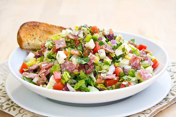 Post image for Cozy Cameo: Dad n' Me, and Italian Chopped Salad Makes Three