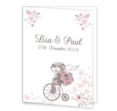 Smitten Couple Wedding Mass Booklet Cover   Loving Invitations