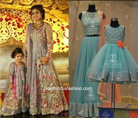 Matching Mother Daughter Dresses ?South India Fashion