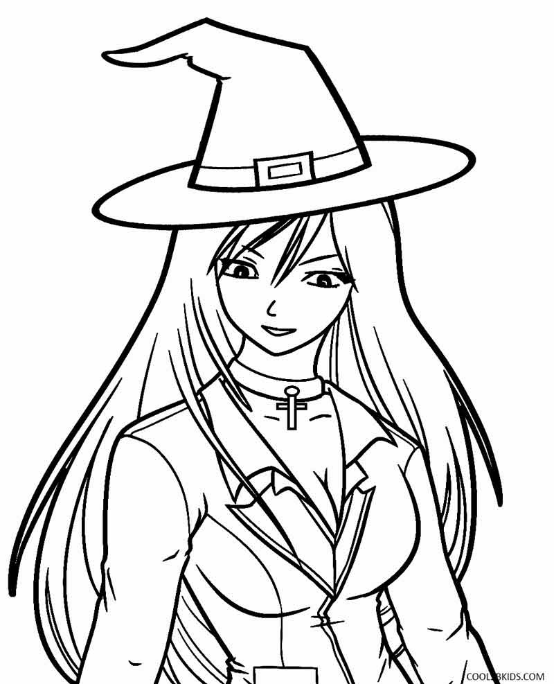 Printable Witch Coloring Pages For Kids Cool2bKids - Afvere