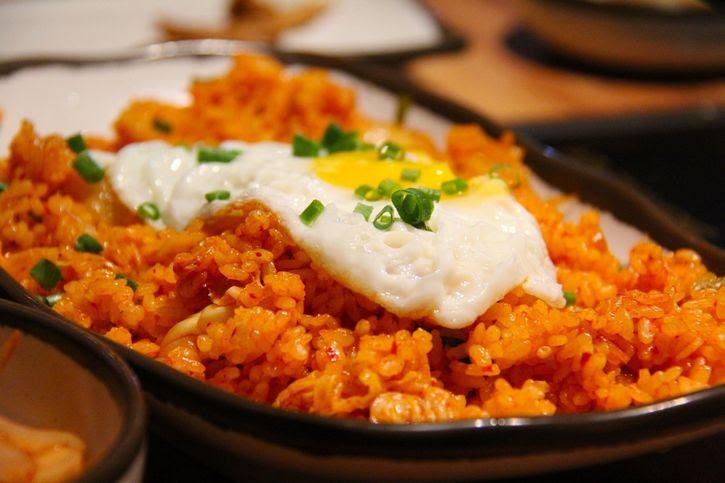 Kimchi arroz rojo