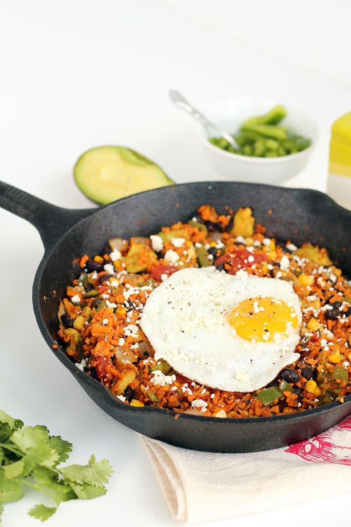 Sweet Potato Rice Mexican Breakfast Skillet - Inspiralized