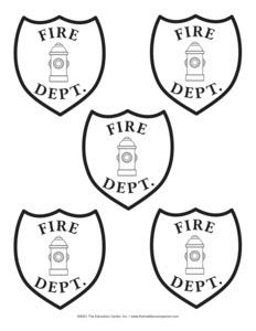 firefighter hat template preschool crafts_279949
