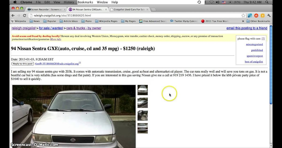 Craigslist Raleigh Used Cars For Sale - Car Sale and Rentals