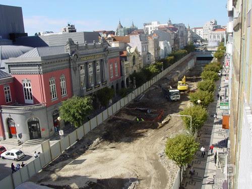 Braga - Avenida da Liberdade em Obras