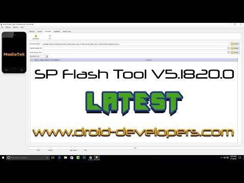 SP Flash Tool Download For Flashing to Android stock ROM scatter based