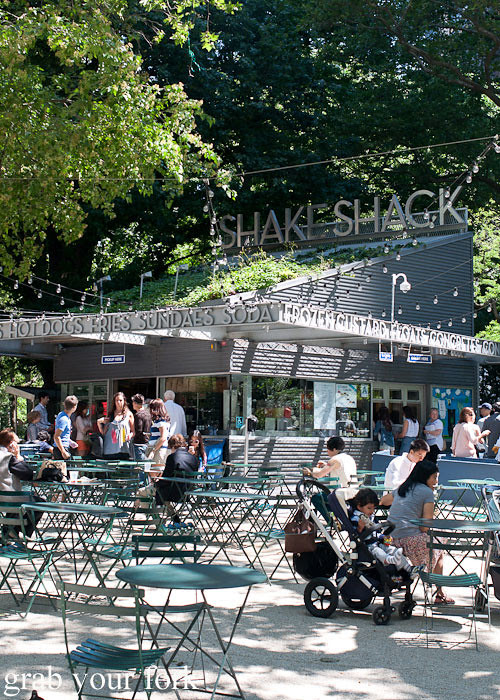 shake shack hamburgers at madison square park nyc new york usa