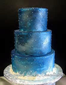 starry wedding cake   Google Search   Cute   Wedding cakes