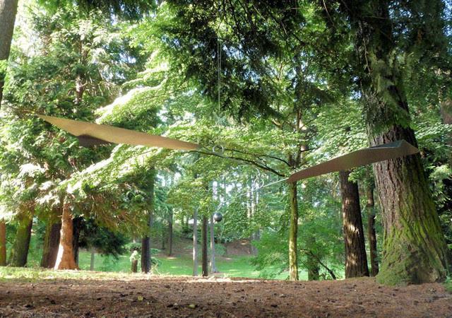 Large Outdoor Hanging Mobile 90 - modern - garden sculptures ...