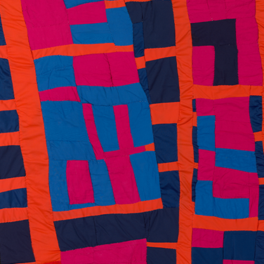 Blocks and Strips Quilt (detail), 2003, by Irene Williams