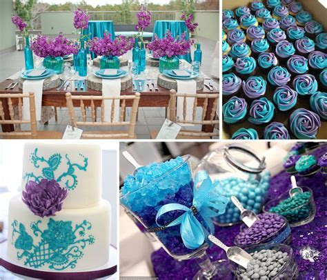 Best ideas for purple and teal wedding   Teal and purple