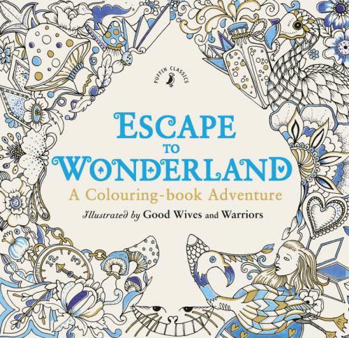 英語の本 タトゥーの塗り絵escape To Wonderland ドイツ語学習の教材