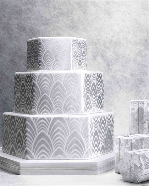 8 Platinum Wedding Cakes Ideas   Martha Stewart Weddings