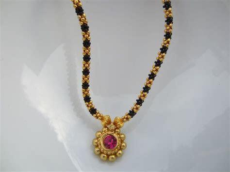 Pink Stone Kolhapuri Necklace, Maharashtrian Thusi