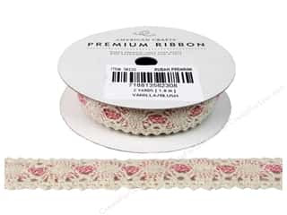 American Crafts Lace Crochet Ribbon 3/4 in. x 2 yd. Vanilla Blush