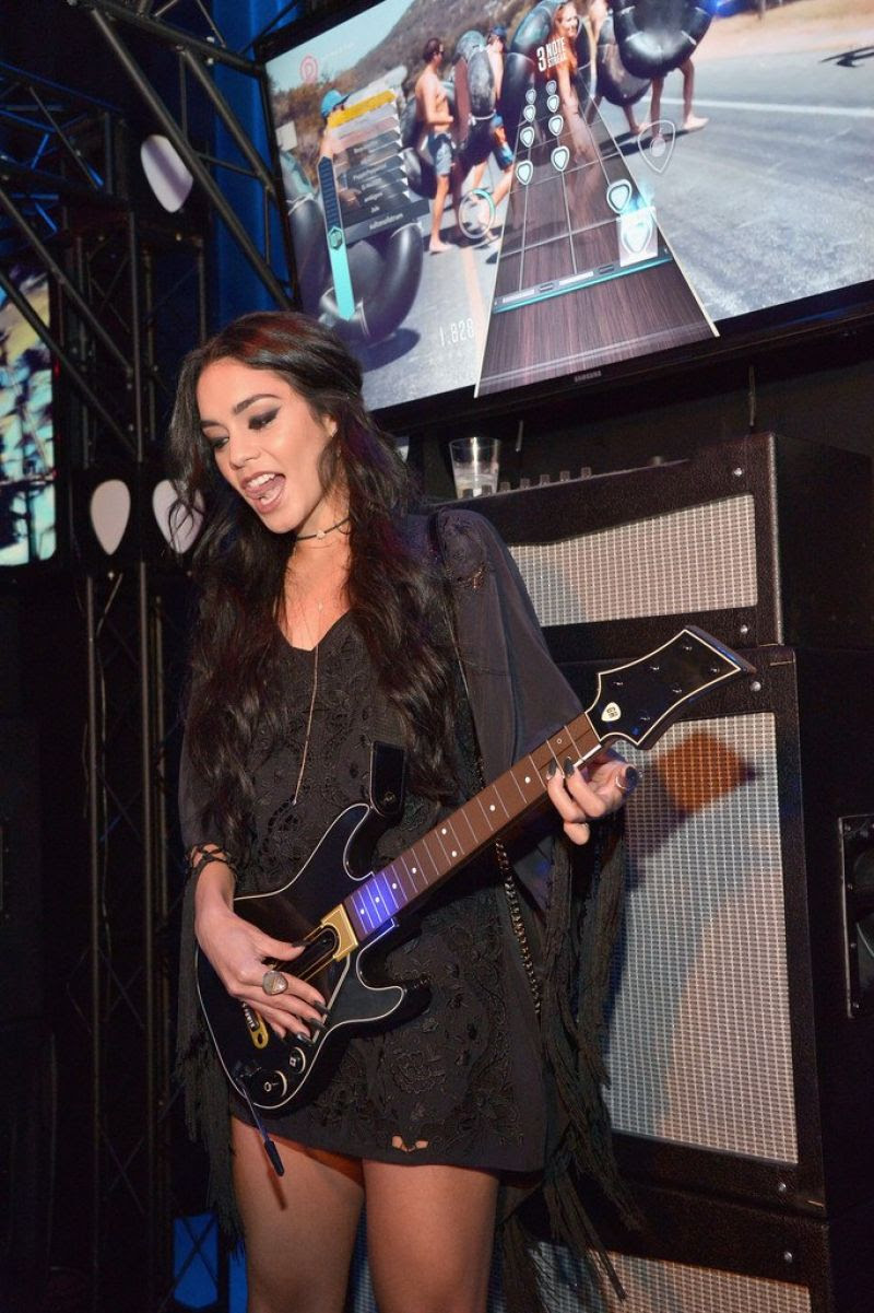 VANESSA HUDGENS at Guitar Hero Live Launch Party in Los Angeles 10/19/2015