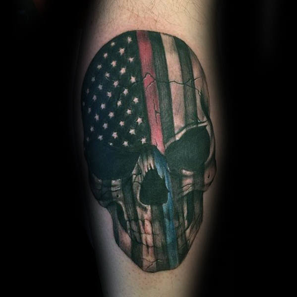 Awesome Thin Blue Line Tattoo Parryzcom