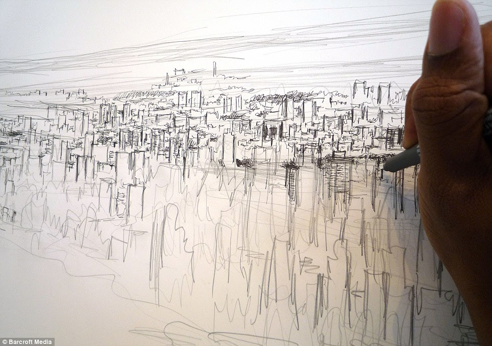 Stephen's drawings of Tokyo, Rome and Hong Kong have dumbfounded art lovers around the world