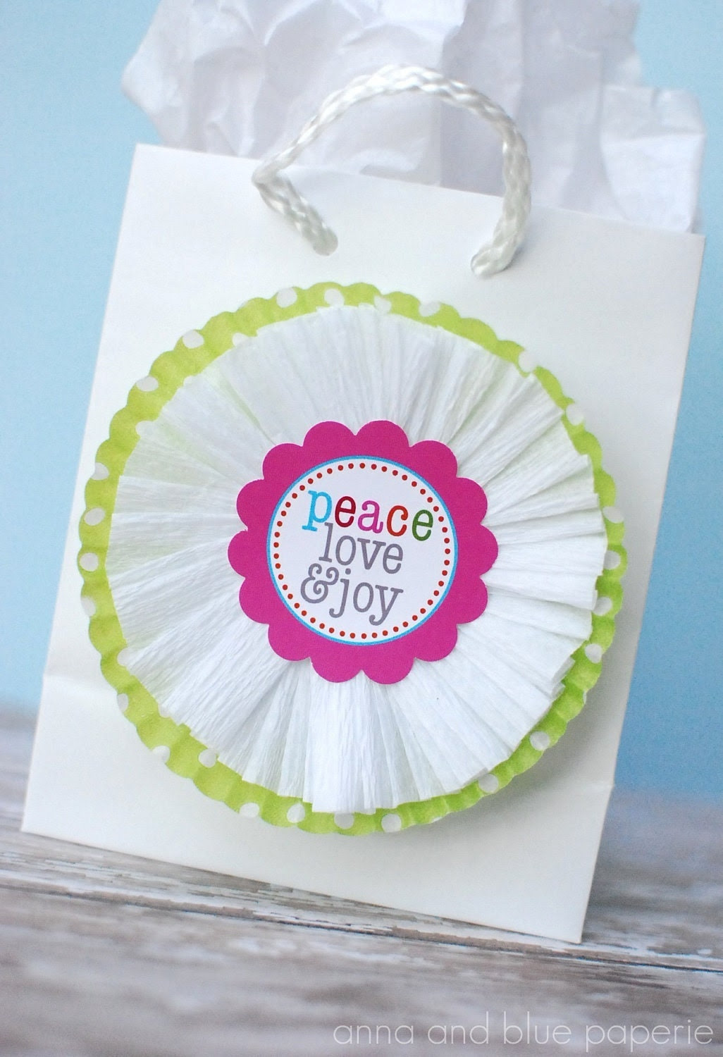 PRINTABLE Merry & Bright Tags - by anna and blue paperie