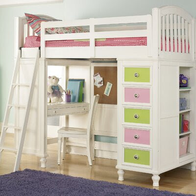 Slat Loft Bed | Wayfair